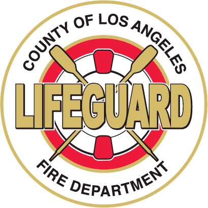 Los Angeles County Fire Department lifeguard logo.