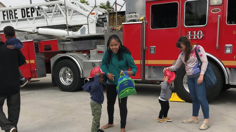 Family and the fire station 58 pancake breakfast.