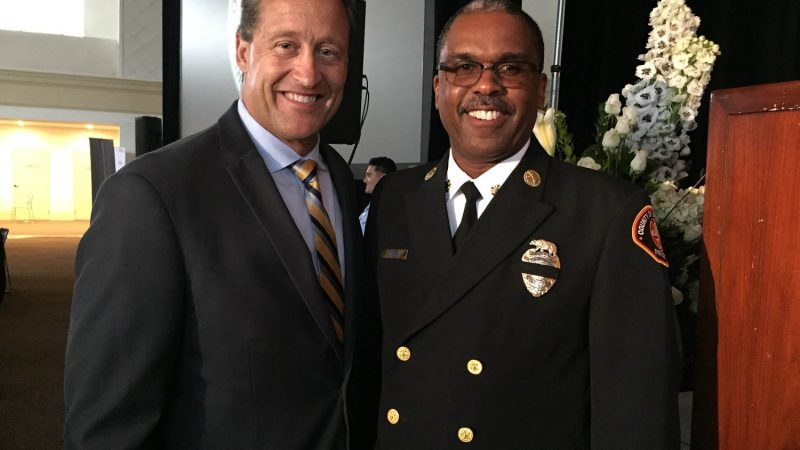 Picture of Jim Everett and Chief Osby.