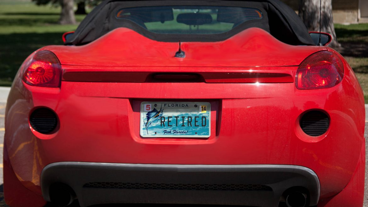 back of a sports car.