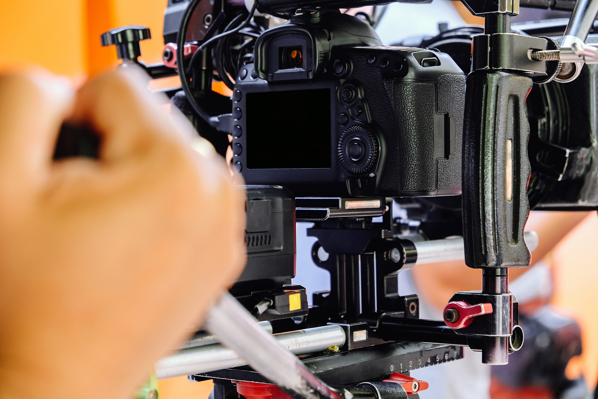 Picture of a camera ready to shoot.