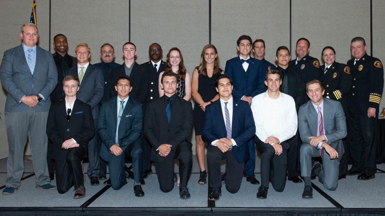Another Explorer banquet 2019 group photo.