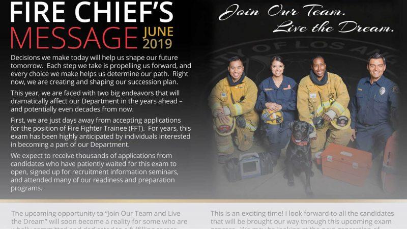 Fire Chief Osbys Message