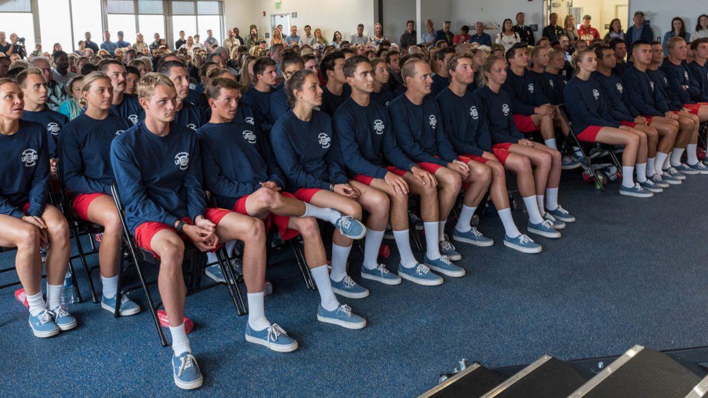 graduating kids at the Lifeguard academy.