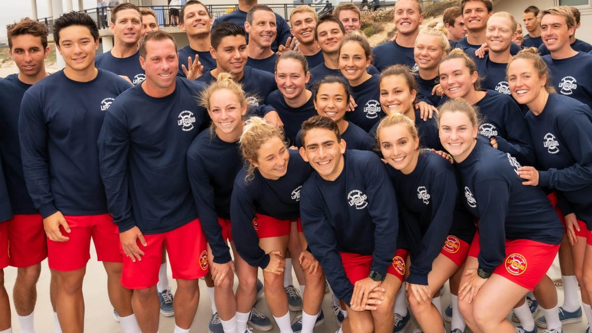 Group photo of the Lifeguard academy.