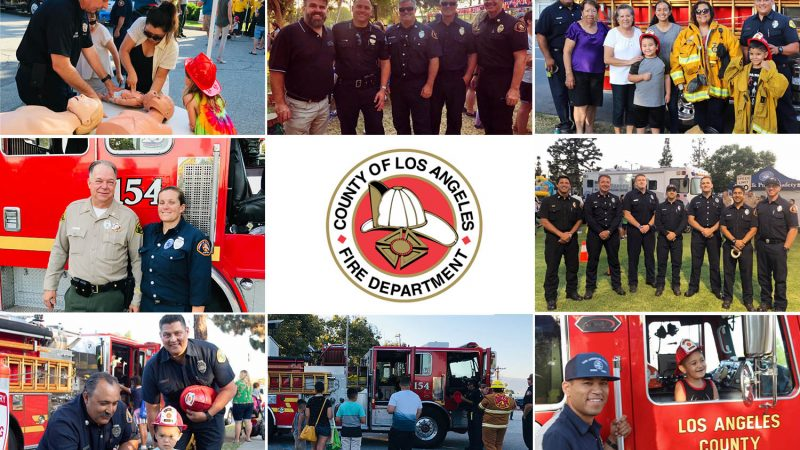 Multi-photo for LACoFD national night out.