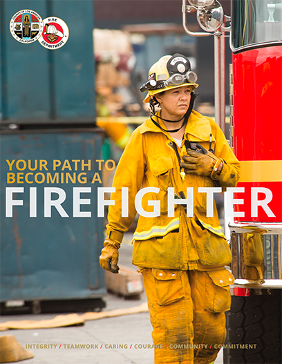 Image of the be a fire fighter PDF.