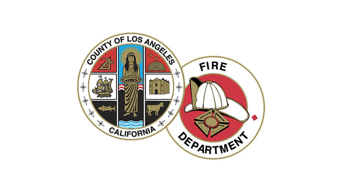 Double LACoFD and County logos.