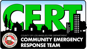 CERT logo for the Community Emergency Response Team.