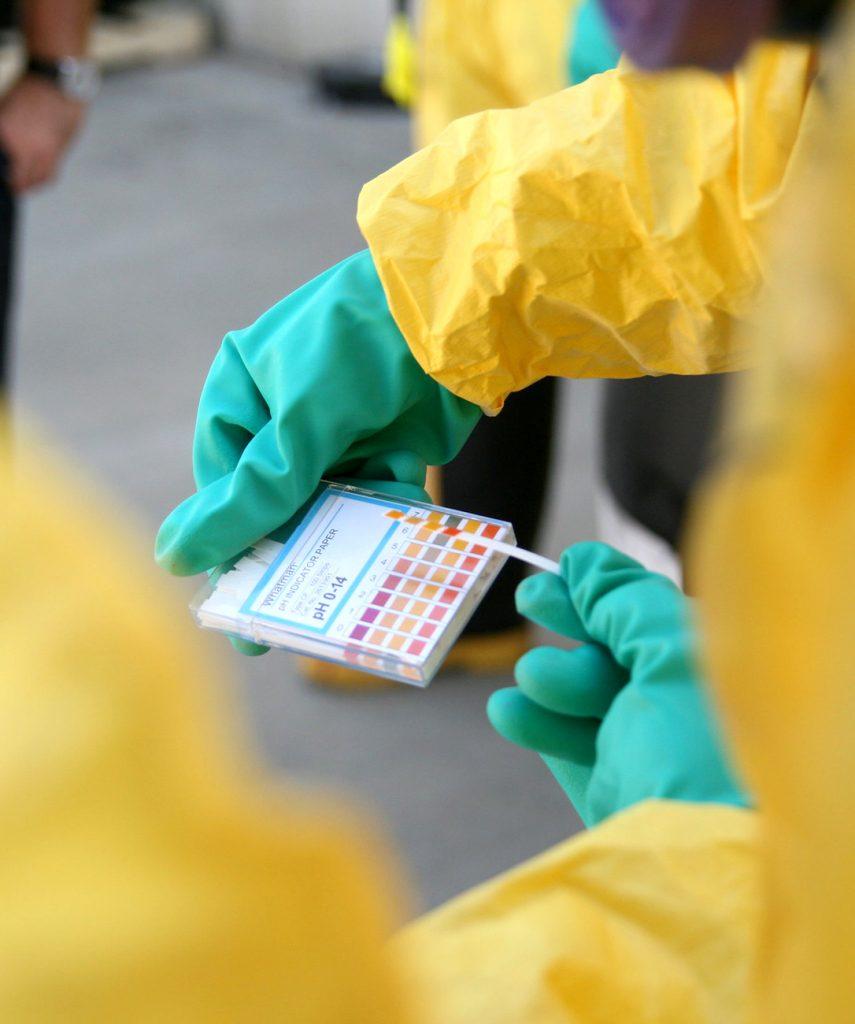 Hazmat checking samples