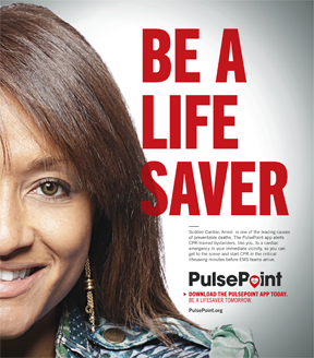 Be a life saver pulsepoint image.